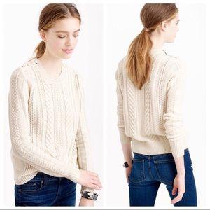 "J. Crew ""perfect cable knit sweater"" medium"
